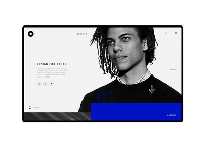 Minimal View profile eccomerce web mouseover slider color fashion landing page minimal simple ui ux