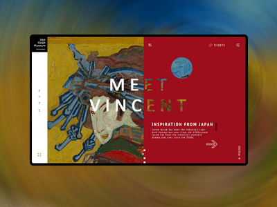 Vincent Van Gogh Museum painting art redesign ticket vincent van gogh color ui ux calendar events museum