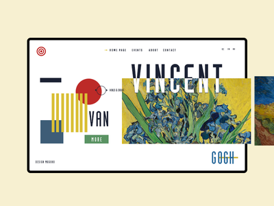 Vincent Van gogh van gogh typography museum nature color slider shapes landing vincent van gogh art ui ux