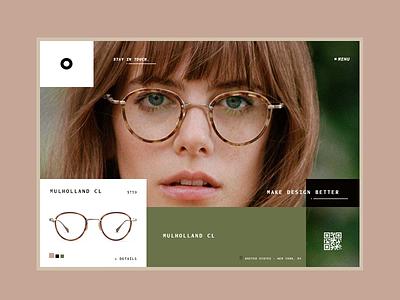 Glasses describe page glasses product minimal web design ui ux product page online shop eye eyeglasses