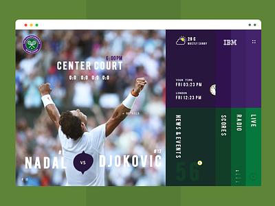 Wimbledon website Redesign layout wimbledon rolex ibm djokovic nadal tennis landing ux ui sport redesign