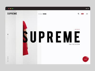 Clean online shop concept landing cart eccomerce online store clean web design design minimal ui ux