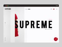 Clean online shop concept