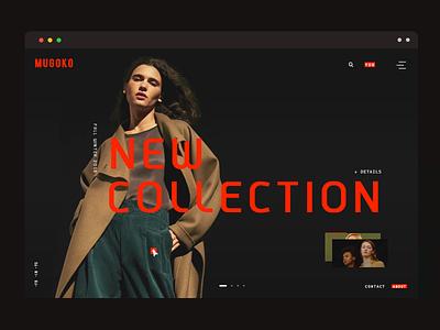online store UI fashion layout effects typography slider black cart landing page minimal online store ux ui