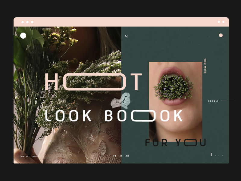 Hot Summer text effects app web flower fashin green typography text effects summer design ux ui