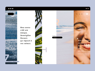 Desert beach typography interface landing web design ux ui minimal lines desert beach summer
