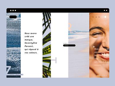 Desert beach typography interface landing web design ux ui minimal lines desert beach summer