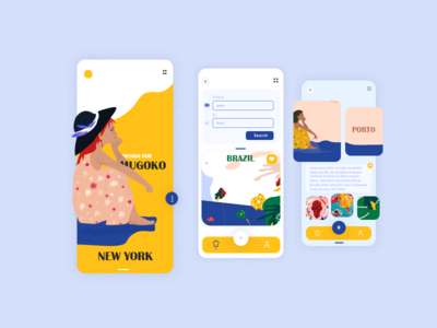 Travel App UI web design filter menu graphics mobile summer relax turism app design minimal vector vacation search trip travel app interface illustration ux ui