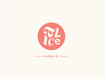 Alice logotype icon typography design logo freelancer designer branding illustrator