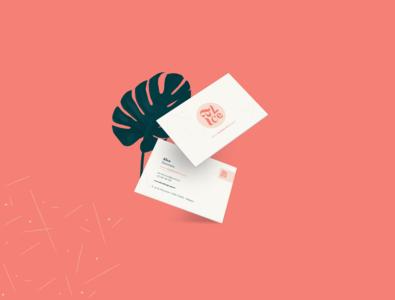 Alice logotype - Business card leave mockup business card design business card icon logo typography identity branding freelancer designer branding illustration illustrator