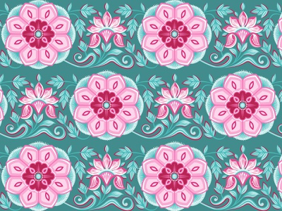 Floral Pattern leaves flowers floral flower illustrator mural traditional rajastan pattern india