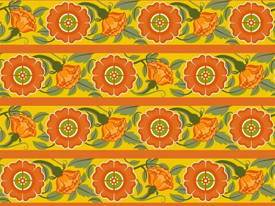 Warm Floral Pattern warm rose illustrator floral rajasthan pattern flowers india