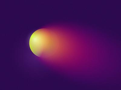 Earthbound glow gradient comet meteor planet space