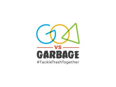 Goa Vs Garbage cleanup sustainable logo goa campaign logo logo unit