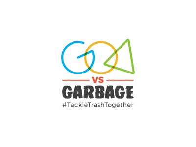 Goa Vs Garbage cleanup sustainable logo goa campaign logo logo unit