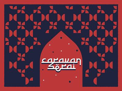 Caravanserai - 1 logo france refugees islamic art pattern event caravanserai