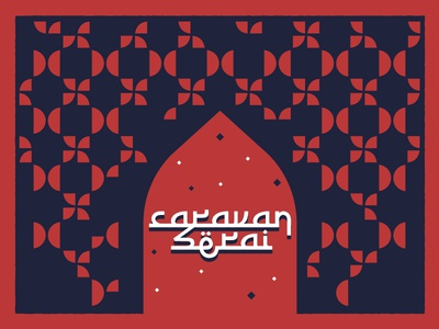 Caravanserai - 1 logo france refugees islamic art pattern event caravanserai