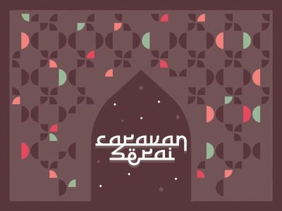 Caravanserai - 2 paris france pattern design caravan caravanserai refugees event islamicart pattern