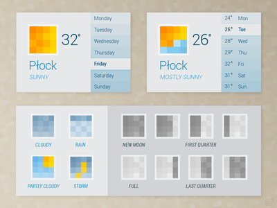 Weather widget-app dribbble poland widget weather weather app poland pixels
