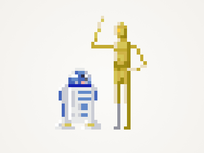 Best Friends pixel friend friends star wars pixel art pixelart c3po r2d2 starwars