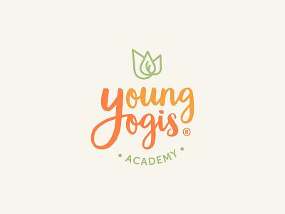 Young Yogis Academy clean design ethical business yoga teacher children conscious mindfulness tipilab clean icon branding lotus holistic vector brand identity yoga studio yoga kids yoga yoga logo design logo