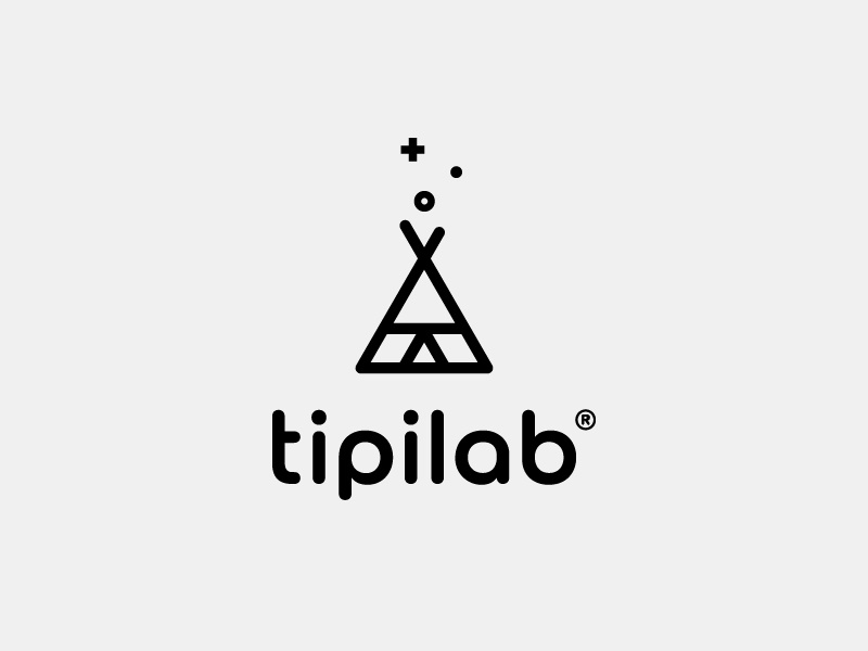 Tipilab studio mindfulness teepee conscious branding design clean icon studio brand lab tipi tipilab vector logo conscious design brand identity