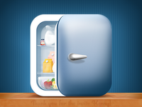 Fridge Pal App Icon (with making of)