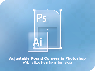 Round Corners in Photoshop!  (with PSD) illustrator photoshop ai psd freebie guide tutorial smart object explained ui interface user interface iconset round corners rounded corners workflow technique download free