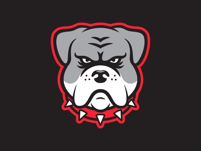 Inline Bulldogs Logo bulldog hockey sports design sports logos