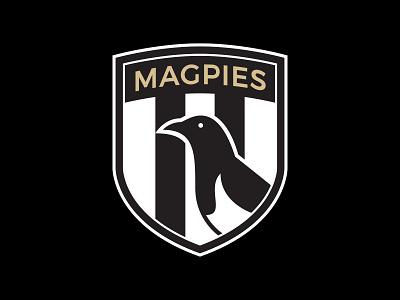 Magpies FC football logo illustration logo sports logos sports design