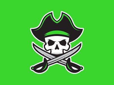 Pirates skull pirates illustration hockey logo sports logos sports design