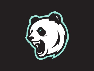 Panda Logo design vector panda illustration logo hockey sports logos sports design