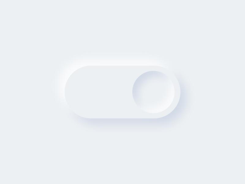 Neumorphism Toggle Lite clay soft minimal 3d switch toggle switch dailyui ui toggle