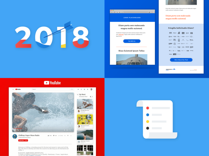 2018 Year in Review to do list goals lists ux video youtube email material design compilation top posts grid year in review 2018