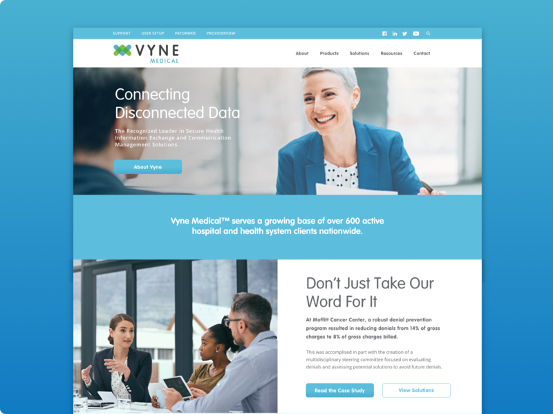 Vyne Medical Website security system family of websites brand system data health security medical