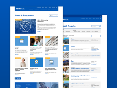 News & Resources and Search UX