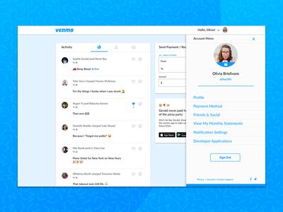 Venmo Desktop Redesign - Account View