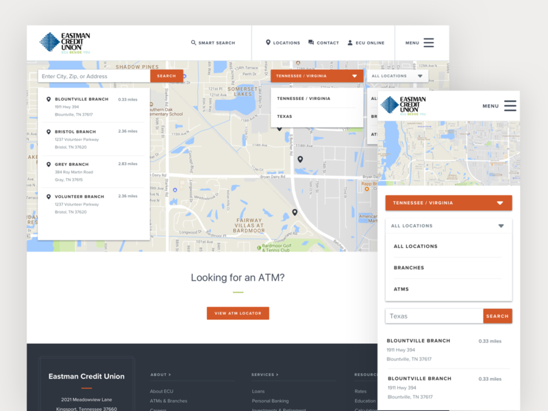Interactive Locations Map flex responsive map ux  ui location find near me branch locations search interactive map banking app interactive banking