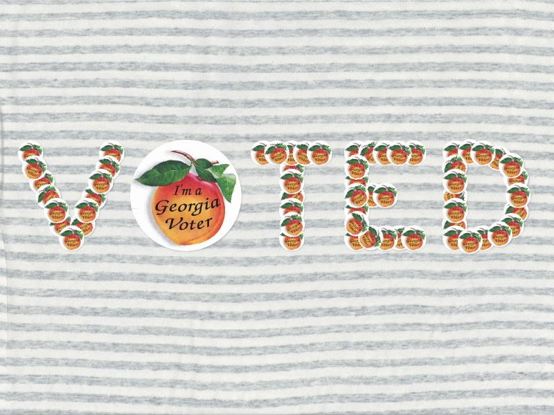 I voted on my shirt.  typography 2016 getoutthevote govote vote stickers elections