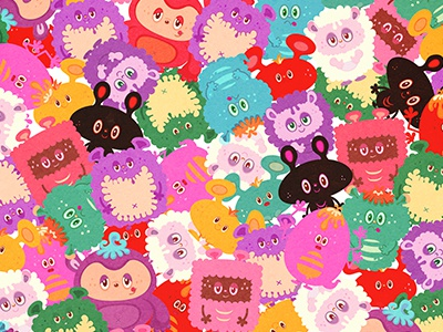 Mogu All kawaii cute heart monster vector illustration