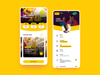 MTN Y'elloHive mtn yellow app ui  ux uiux mobile design mobile app mobile