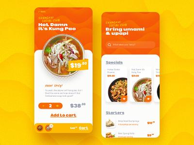 Shanghai Social Club ui  ux mobile restaurant app design uiux design challenge adobexd ux ui