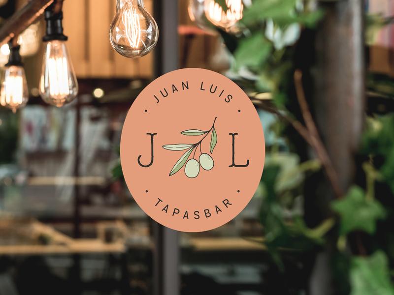 Juan Luis Branding brand colors logo and branding restaurant logo mediterranean olive branch brand design logo logo design food illustration branding illustration