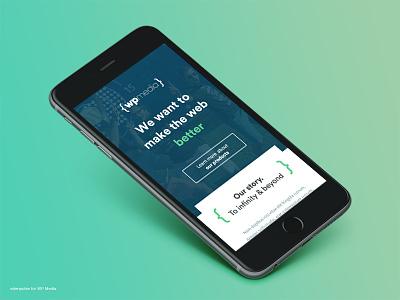 WP Media Website responsive mobile minimal clean webdesign