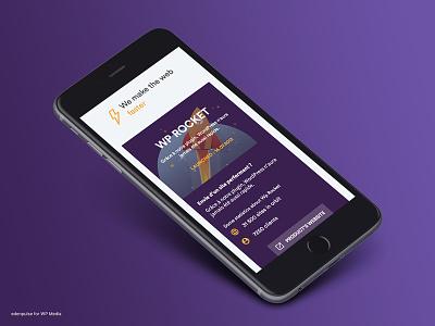 WP Media Website #2 responsive mobile minimal clean webdesign