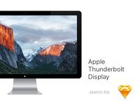 Thunderbolt Display Mockup - Sketch