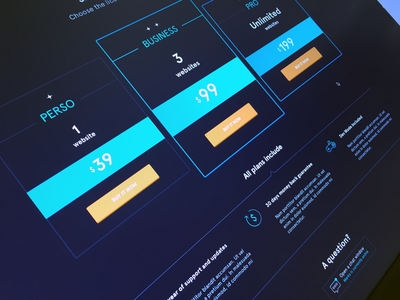 The Rocket Pricing Table wprocket minimal clean webdesign