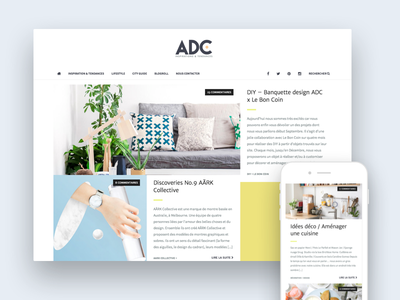 Atelier de Curiosité responsive art direction webdesign