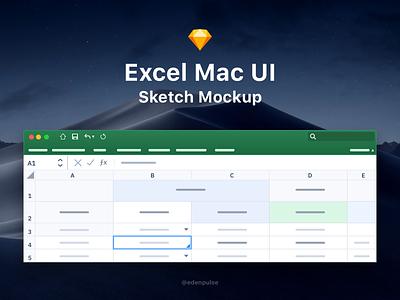 Excel UI Mockup - Sketch minimal mockup sketch