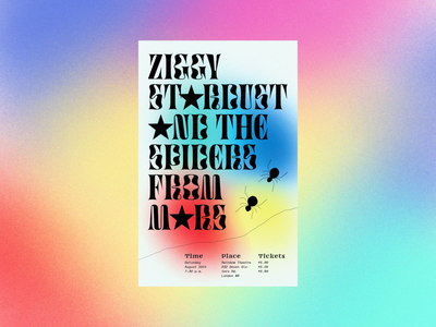 Ziggy Stardust Concert Poster illustration vector design poster typography